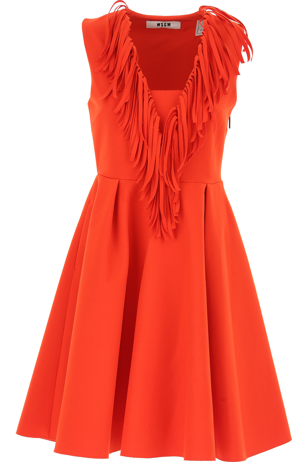MSGM Dress for Women, Evening Cocktail Party, Red, polyestere, 2017, UK 6 - US 4 - EU 38 UK 10 - US 8 - EU 42