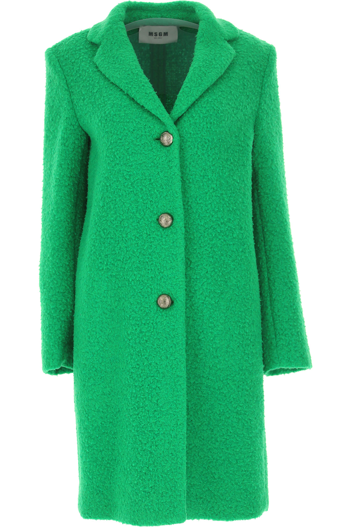 Image of MSGM Women\'s Coat, Grass Green, Virgin wool, 2017, UK 10 - US 8 - EU 42 UK 12 - US 10 - EU 44