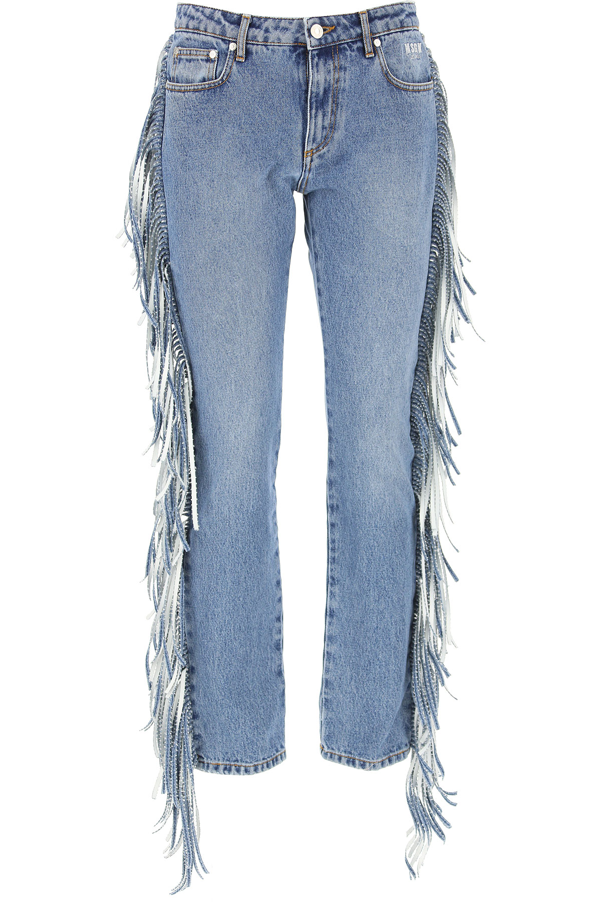 MSGM Jeans, Blue Denim, Cotton, 2017, 26 28
