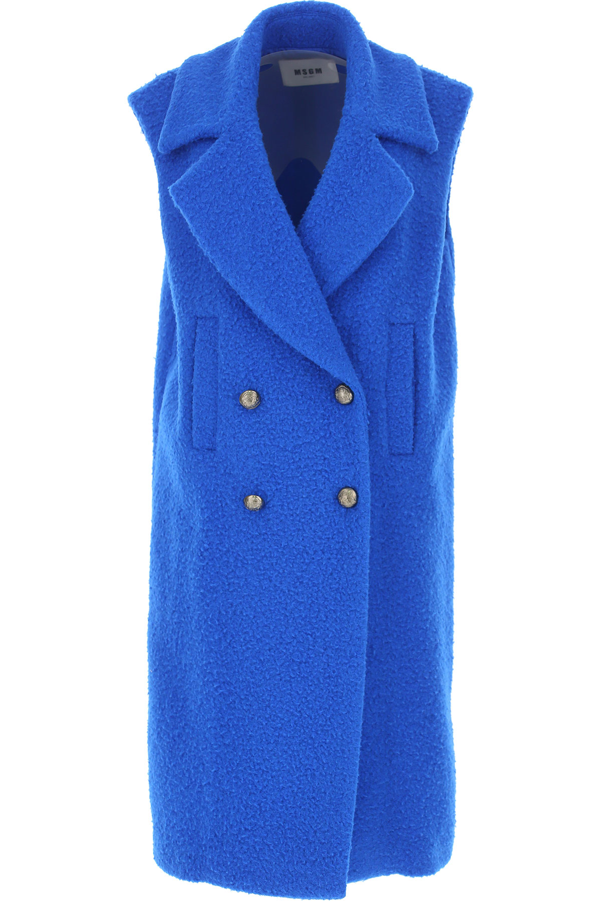 Image of MSGM Women\'s Coat, Electric Blue, Virgin wool, 2017, UK 6 - US 4 - EU 38 UK 8 - US 6 - EU 40