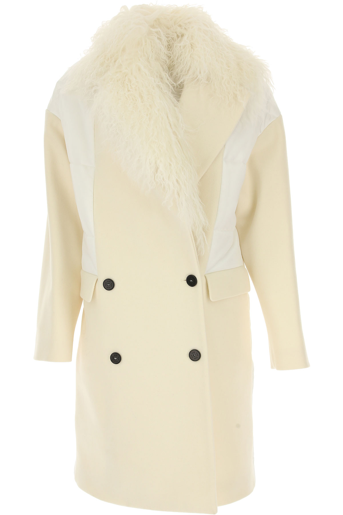 Image of MSGM Women\'s Coat, White, Wool, 2017, 4 6 8