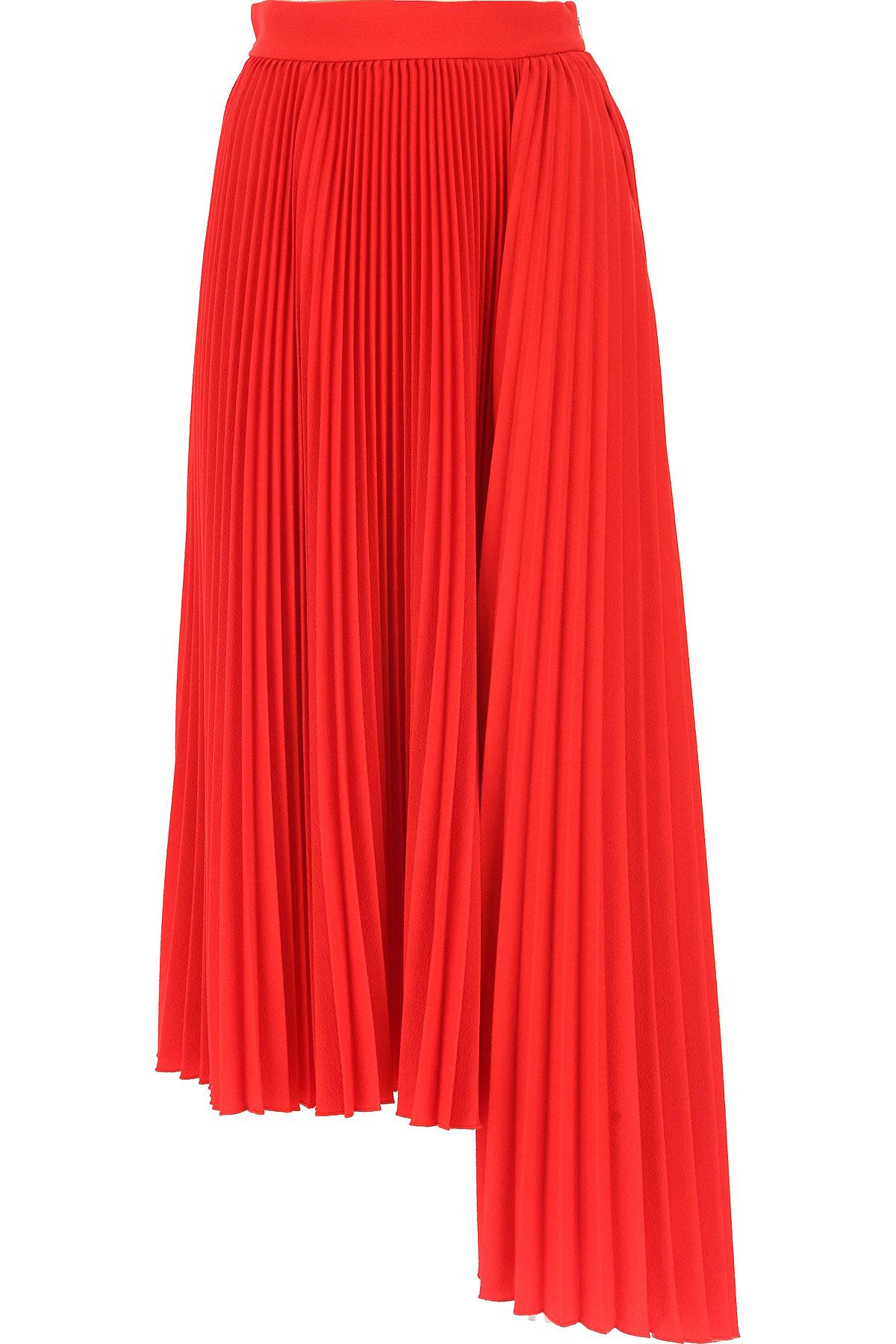 MSGM Skirt for Women, Red, polyestere, 2017, 26 28