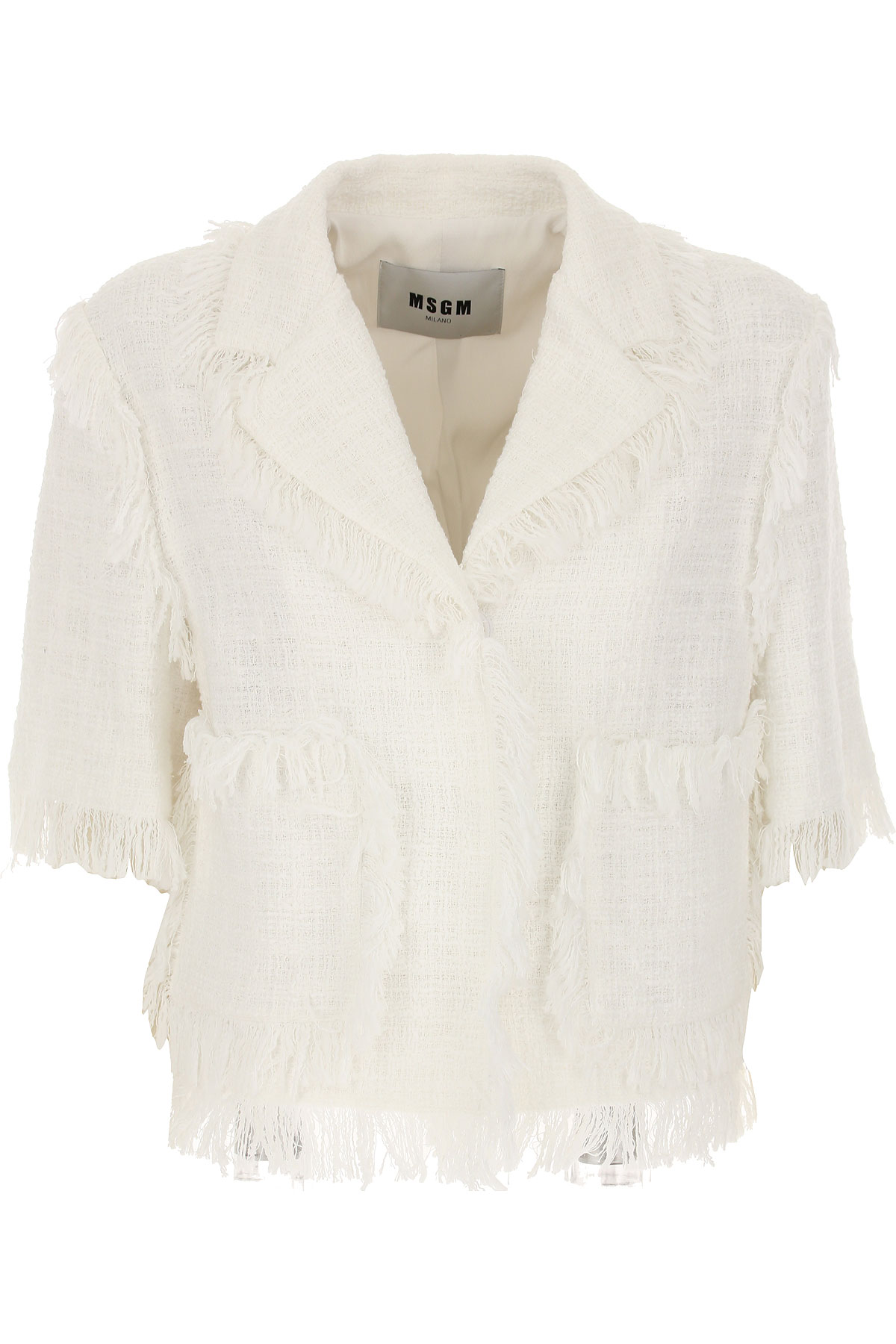 Image of MSGM Blazer for Women, White, Cotton, 2017, UK 8 - US 6 - EU 40 UK 10 - US 8 - EU 42