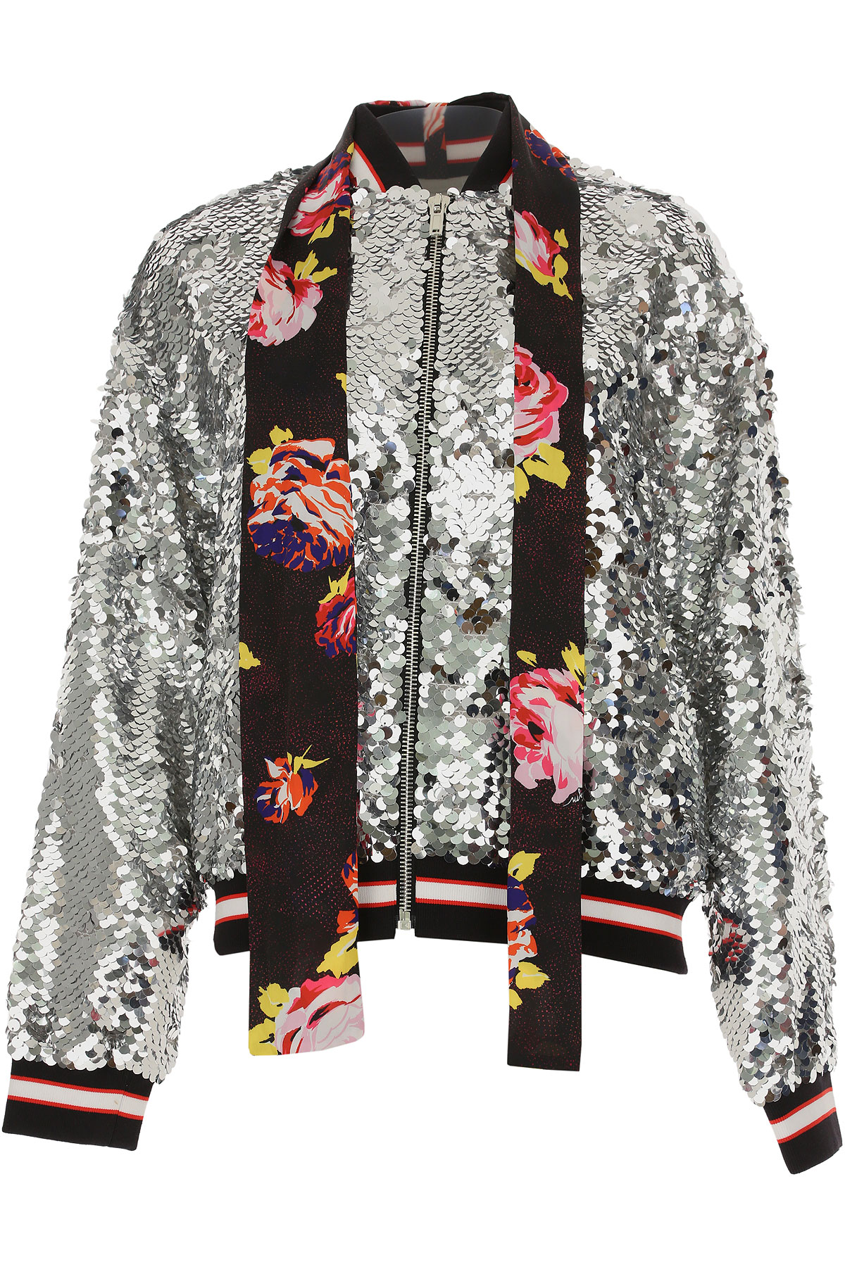 Image of MSGM Jacket for Women, Silver, polyamide, 2017, UK 6 - US 4 - EU 38 UK 8 - US 6 - EU 40