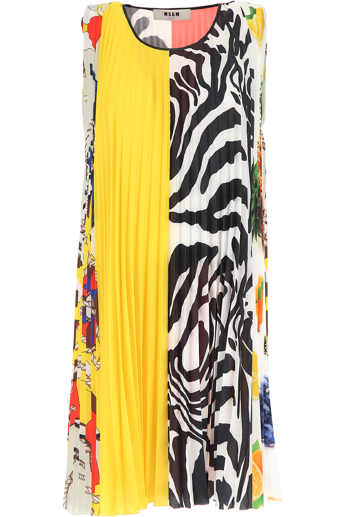 MSGM Dress for Women, Evening Cocktail Party, Multicolor, polyester, 2017, 4 6 8