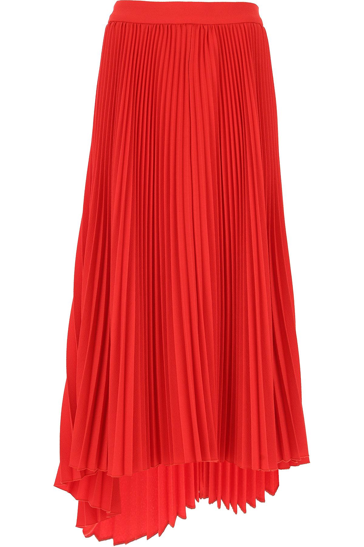 MSGM Skirt for Women, Red, polyester, 2017, 26 28 30
