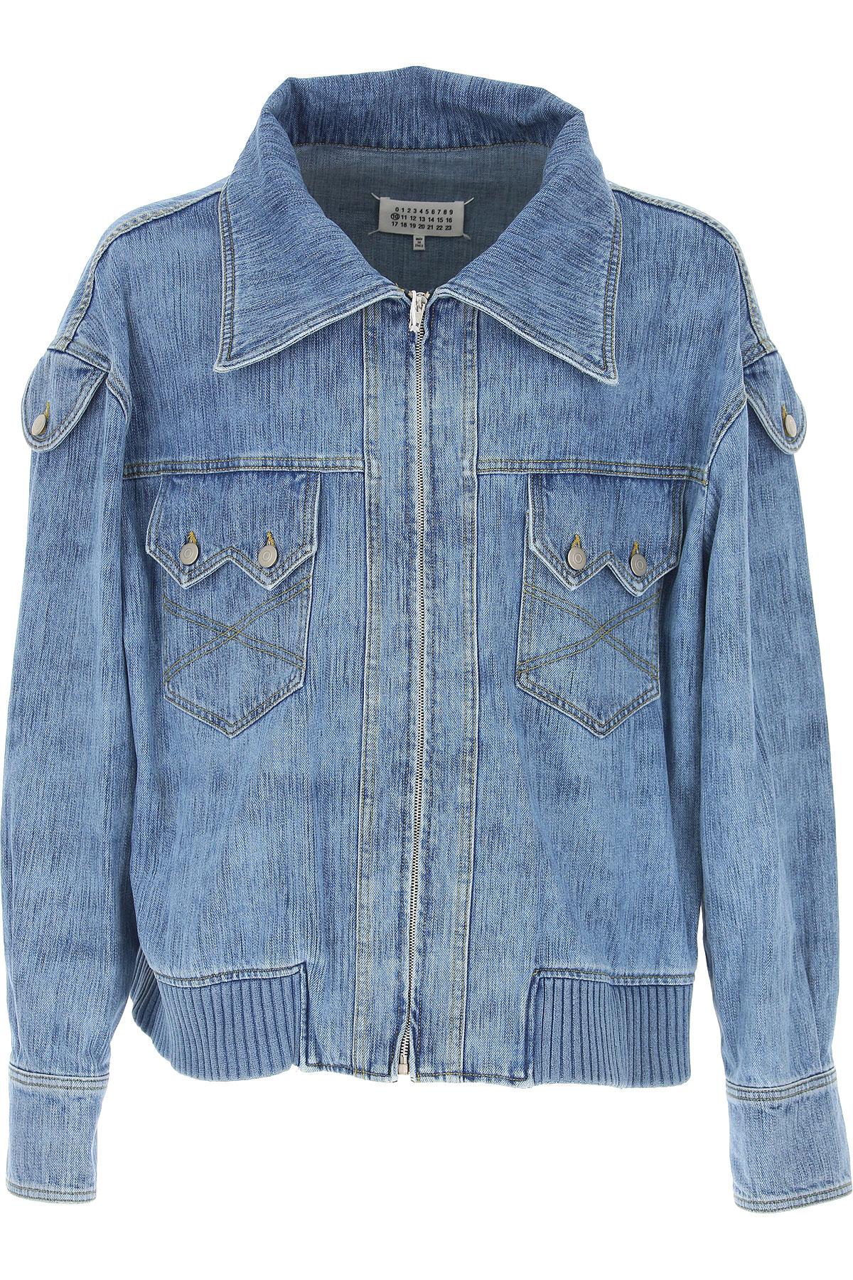 Maison Martin Margiela Jacket for Men On Sale in Outlet, Indigo, Cotton, 2019, M S