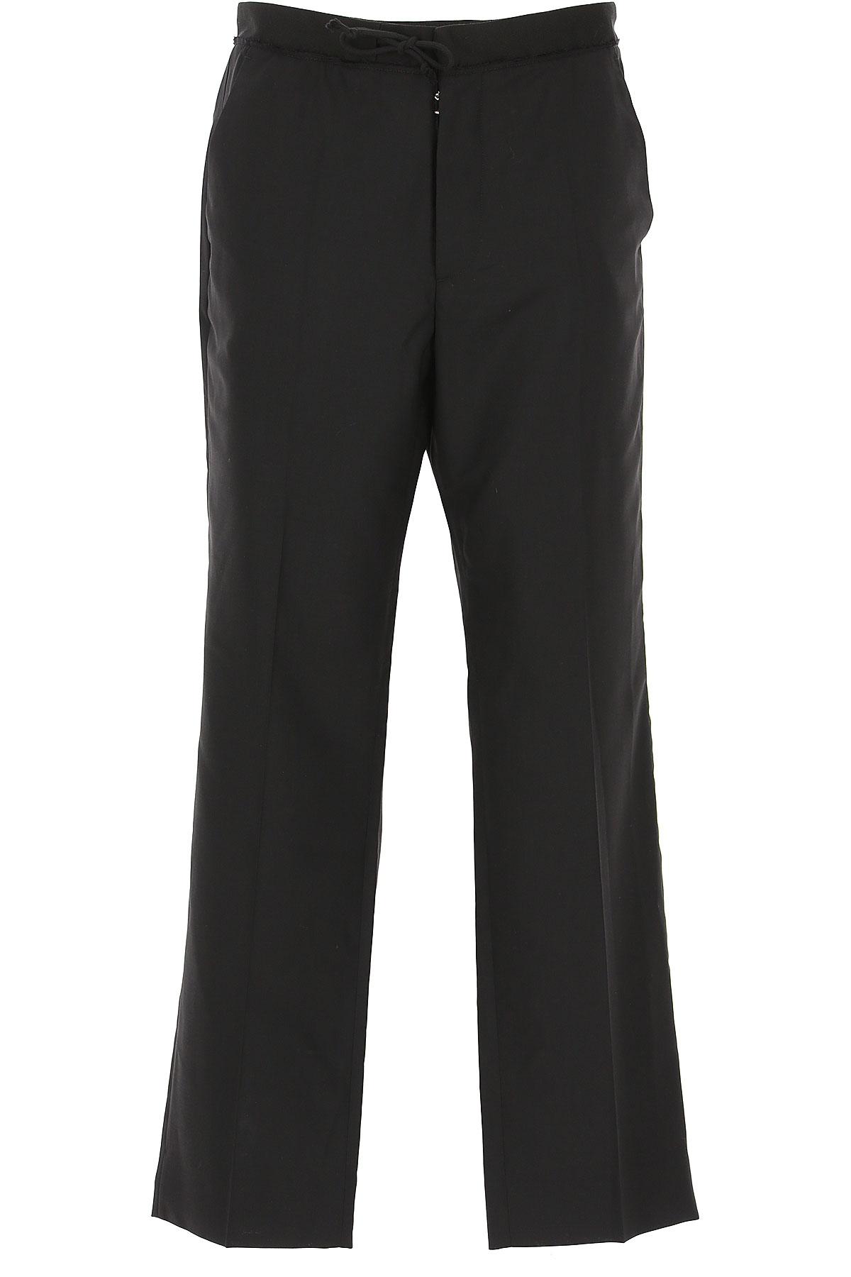 Maison Martin Margiela Pants for Men On Sale in Outlet, Black, Virgin wool, 2019, 32 34
