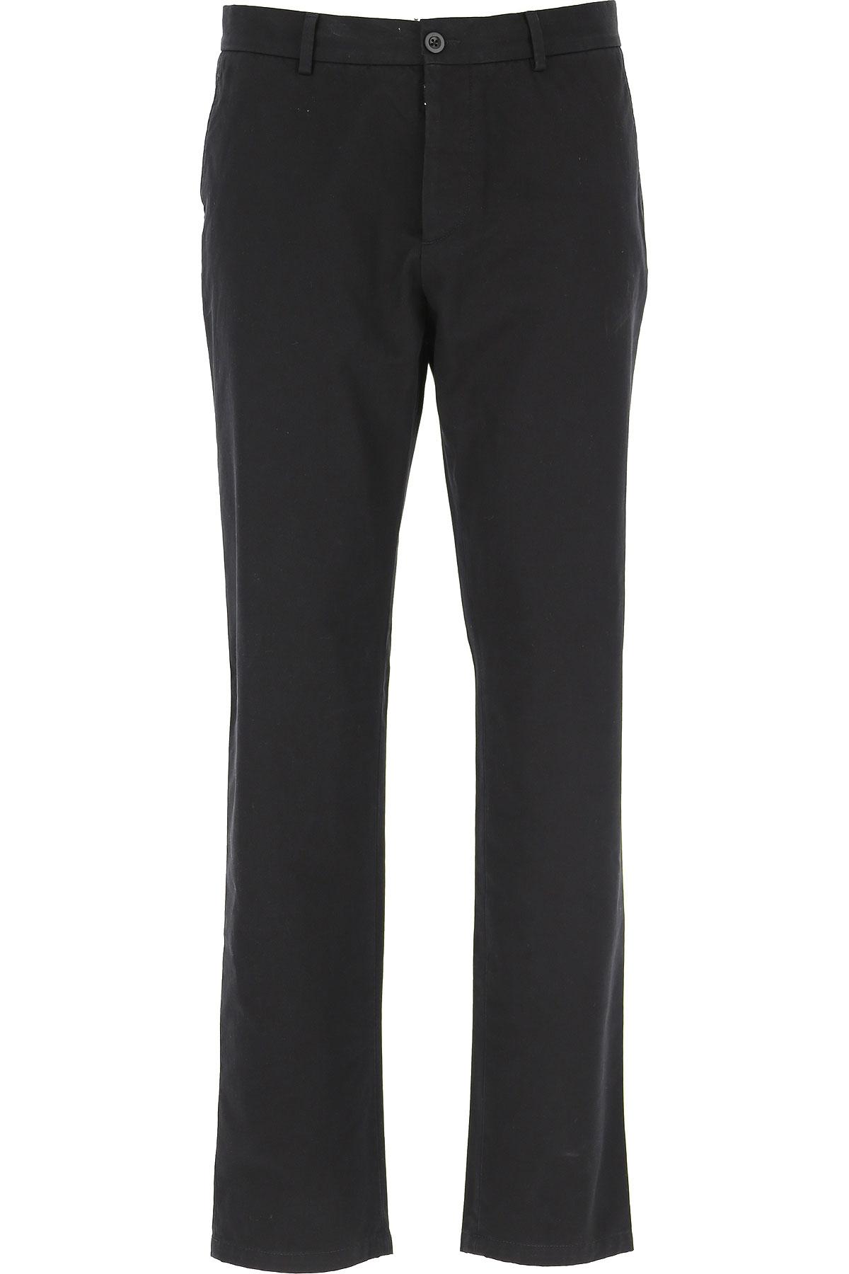 Maison Martin Margiela Pants for Men On Sale, Black, Cotton, 2019, 30 32 34 36