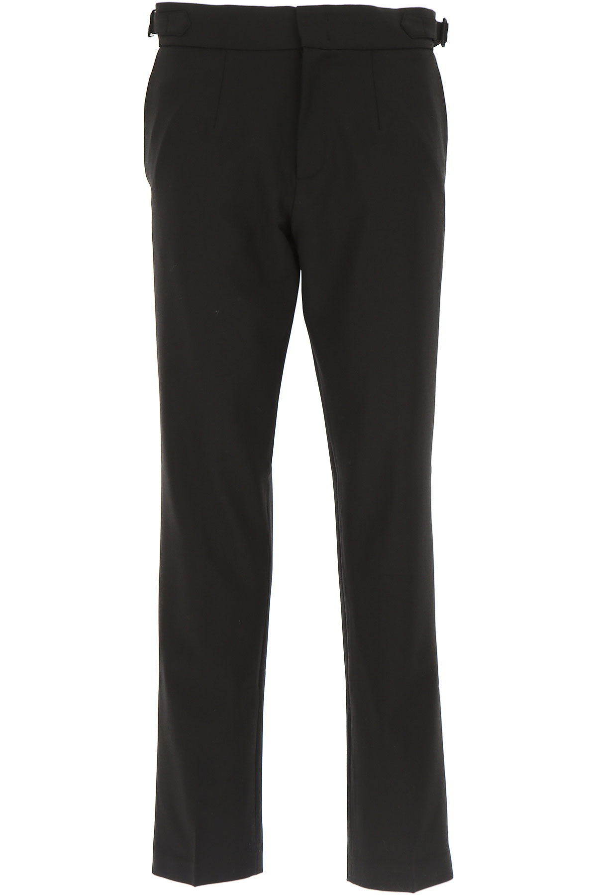 Image of Maison Flaneur Pants for Men, Black, polyester, 2017, 30 32 34 36
