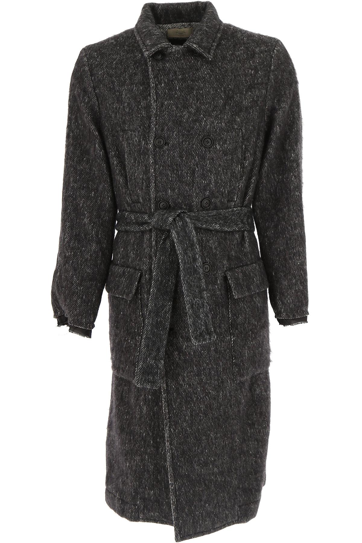 Image of Maison Flaneur Men\'s Coat, Black, Virgin wool, 2017, L M XL