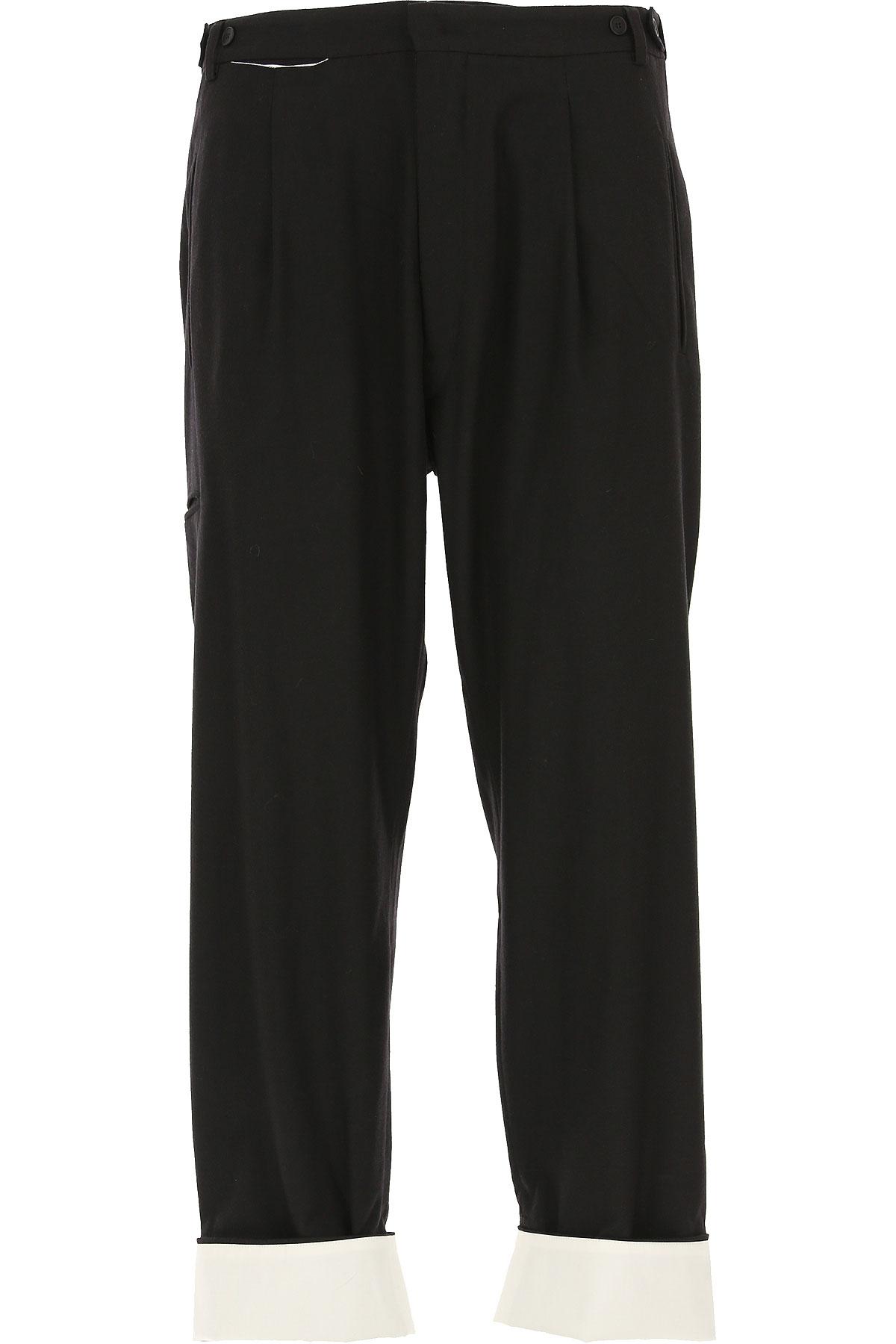 Maison Flaneur Pants for Men On Sale, Black, Viscose, 2019, 30 32 34