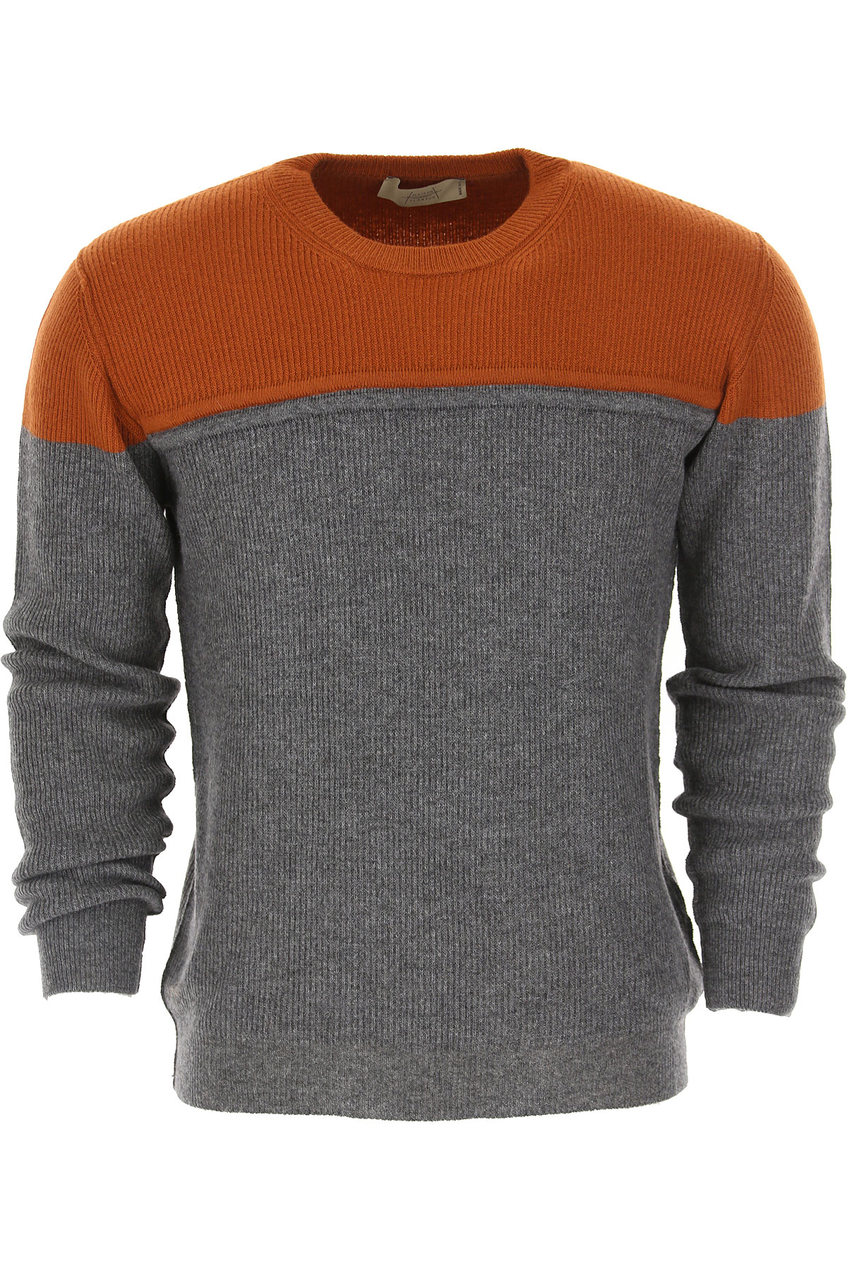 Maison Flaneur Sweater for Men Jumper On Sale, Rust, Virgin wool, 2019, L M S XL