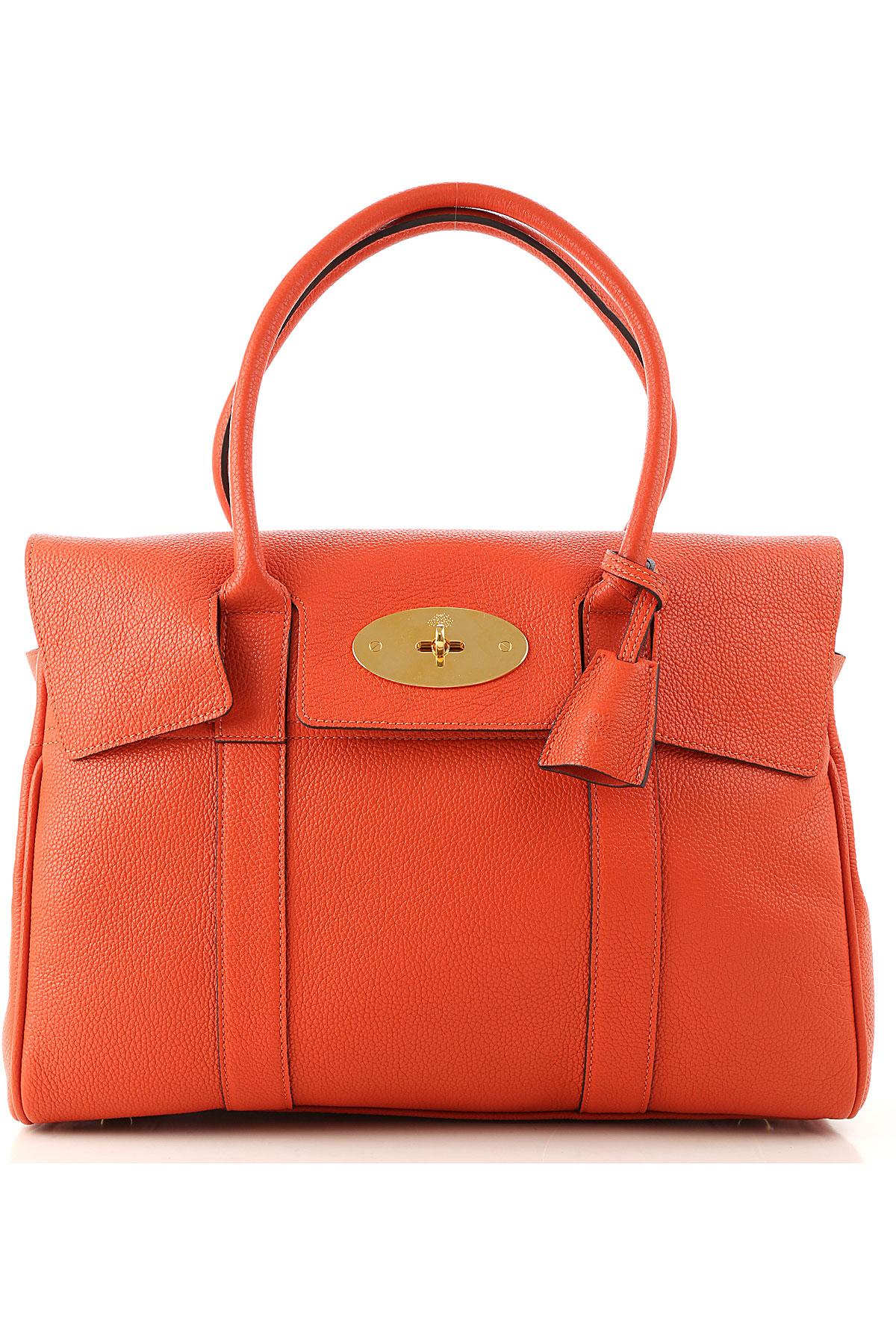 Mulberry Tote Bag On Sale, Tangerine Orange, Leather, 2019