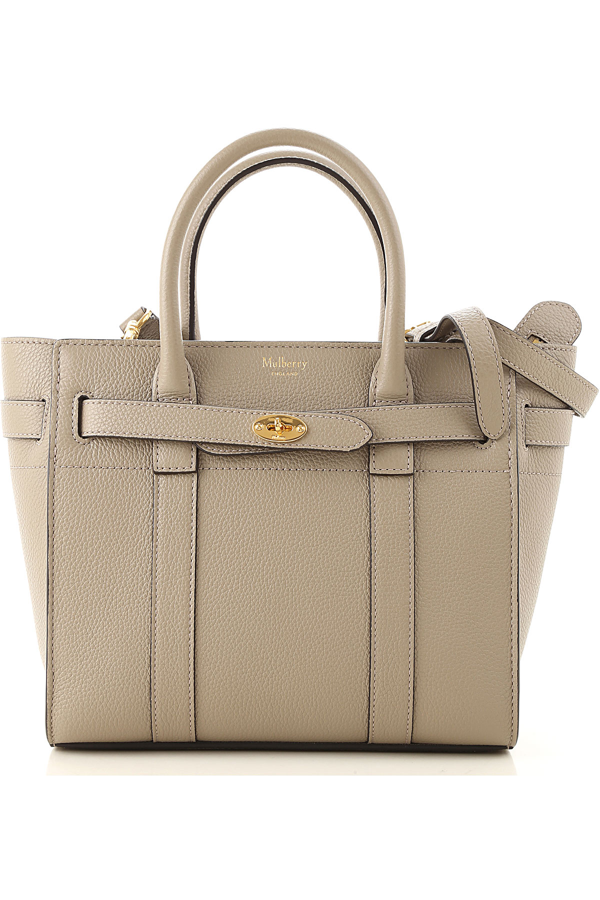 Mulberry Top Handle Handbag On Sale, Solid Grey, Leather, 2019