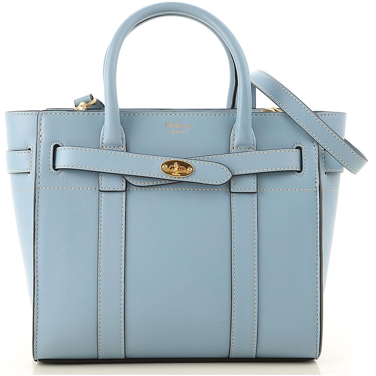 Mulberry Top Handle Handbag On Sale, Nordic Blue, Leather, 2019