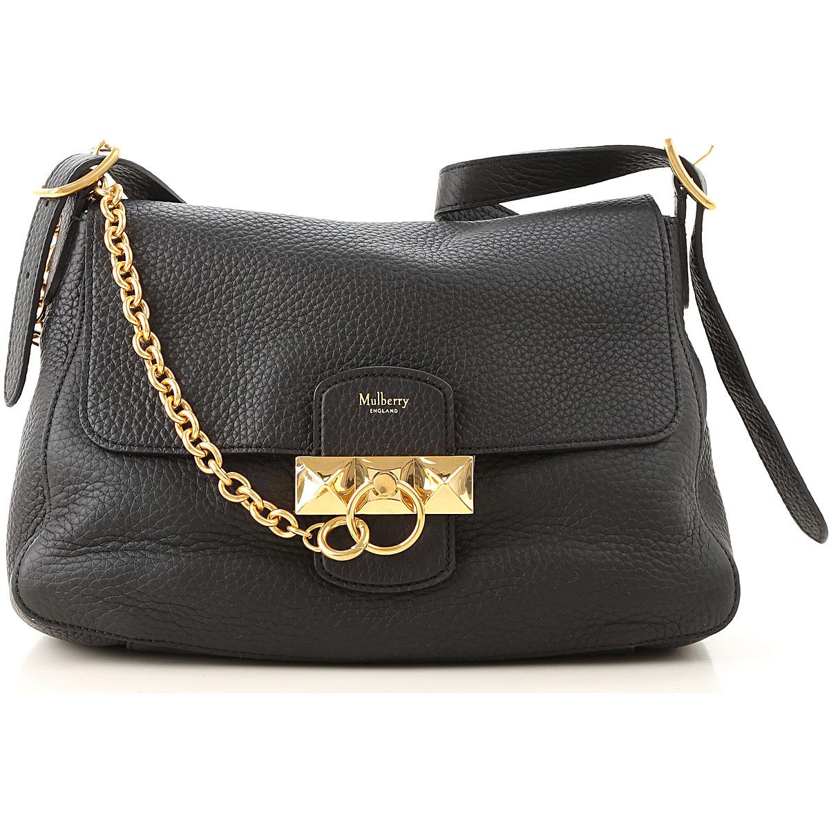 Mulberry Top Handle Handbag On Sale, Black, Leather, 2019