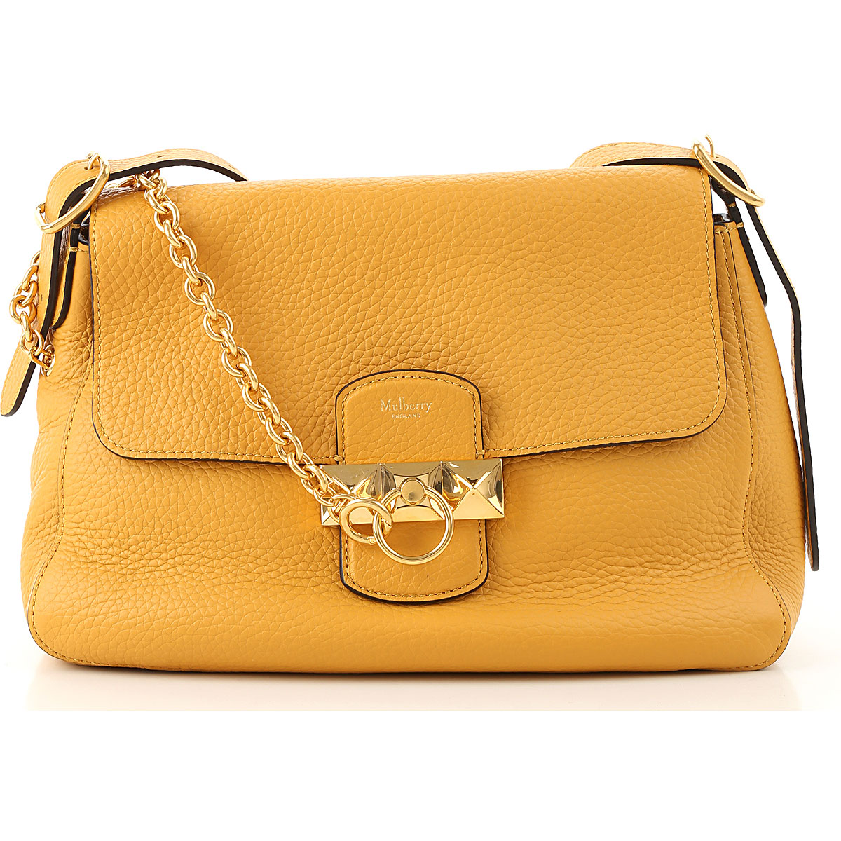 Mulberry Top Handle Handbag On Sale, Yellow, Leather, 2019