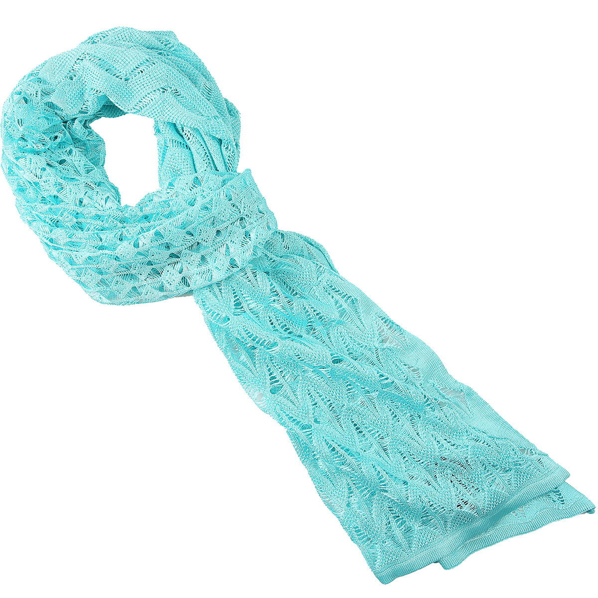 Missoni Scarf for Women On Sale, Water Blue, Viscose, 2019