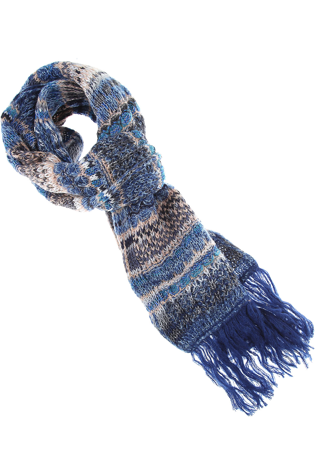 Missoni Scarf for Women On Sale, Blue, Wool, 2019
