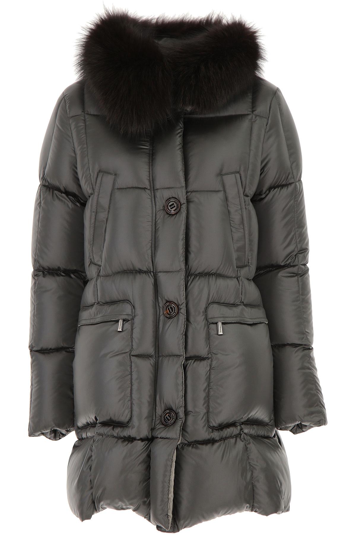 Moorer Down Jacket for Women, Puffer Ski Jacket On Sale, Blackboard Grey, polyamide, 2019, 10 8