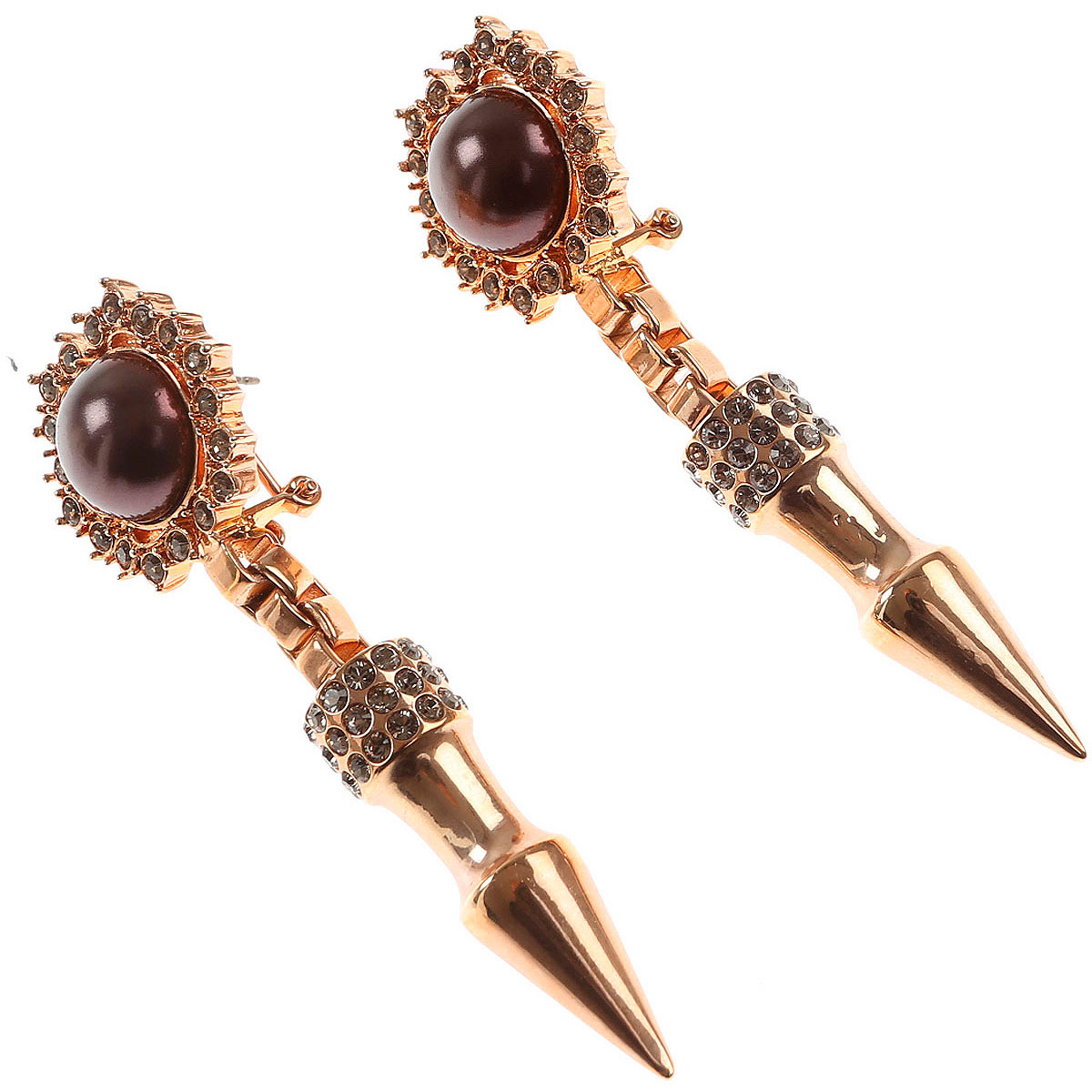 Image of Mawi Earrings for Women, Rose Gold, Brass, 2017