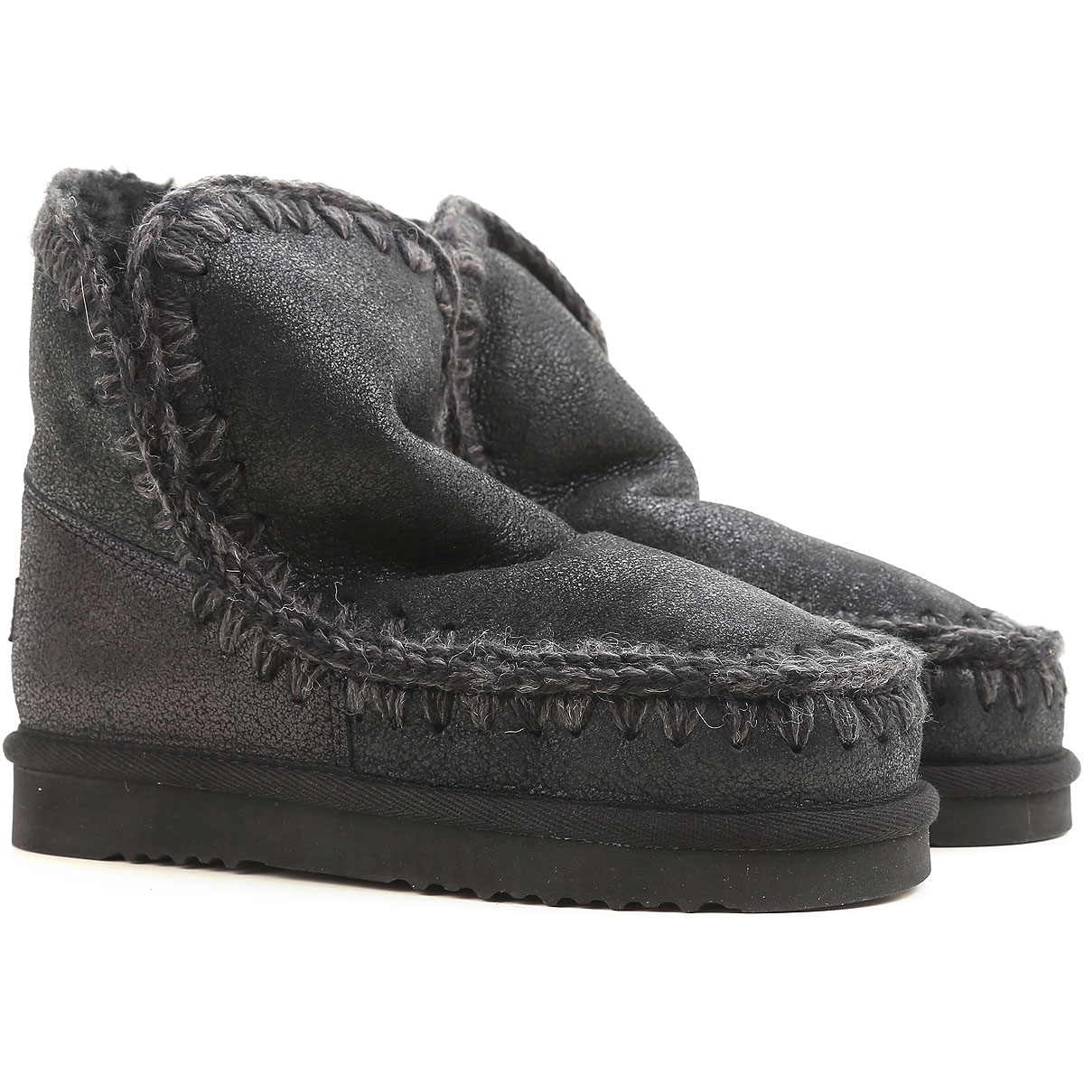Mou Boots for Women, Booties On Sale, Black, Leather, 2019, EUR 36 - UK 3 - USA 5.5 EUR 37 - UK 4 - USA 6.5 EUR 38 - UK 5 - USA 7.5