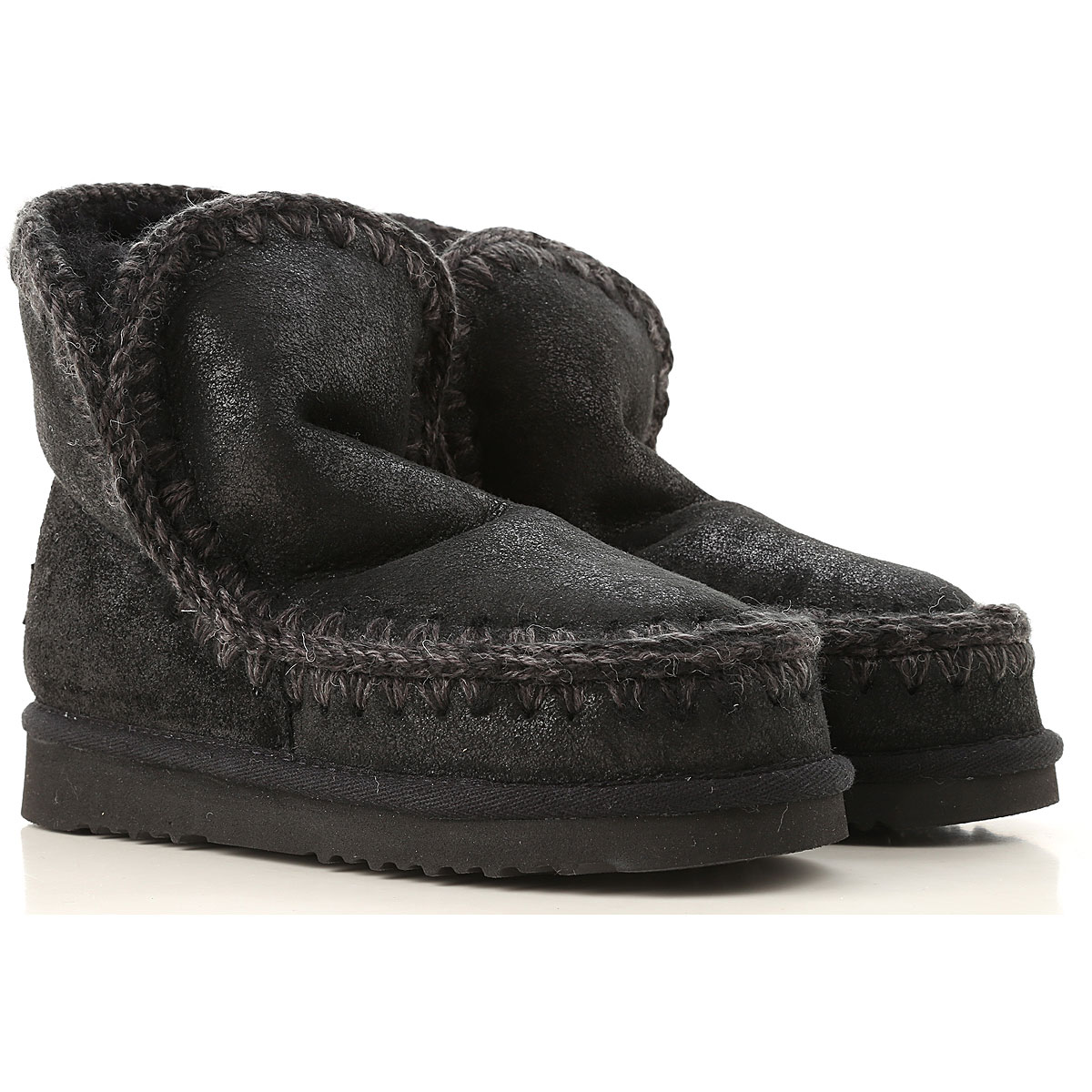 Image of Mou Boots for Women, Booties, Black, suede, 2017, EUR 36 - UK 3 - USA 5.5 EUR 37 - UK 4 - USA 6.5 EUR 38 - UK 5 - USA 7.5 EUR 40 - UK 7 - USA 9.5
