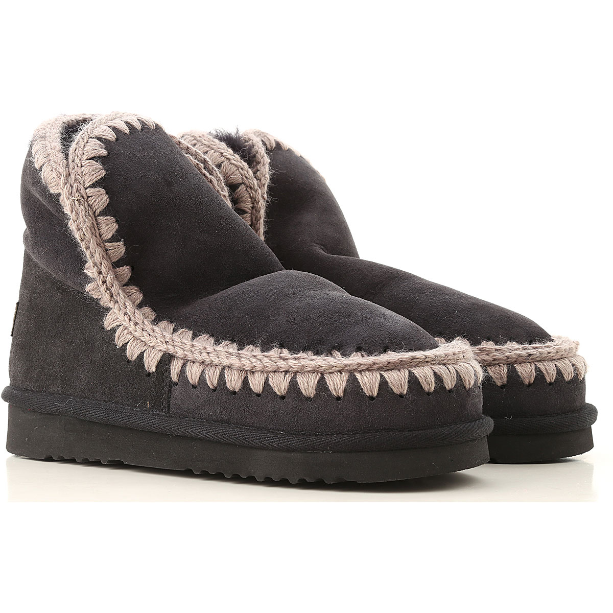 Image of Mou Boots for Women, Booties, Black, Suede leather, 2017, EUR 36 - UK 3 - USA 5.5 EUR 37 - UK 4 - USA 6.5 EUR 38 - UK 5 - USA 7.5 EUR 39 - UK 6 - USA 8.5 EUR 40 - UK 7 - USA 9.5 EUR 41 - UK 8 - USA 10.5