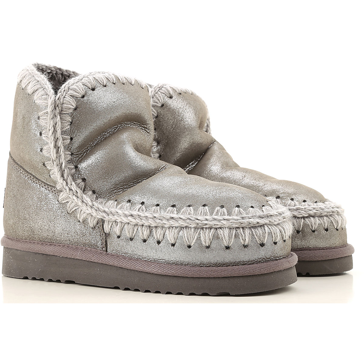 Mou Boots for Women, Booties On Sale, Silver, Suede leather, 2019, EUR 36 - UK 3 - USA 5.5 EUR 37 - UK 4 - USA 6.5 EUR 40 - UK 7 - USA 9.5