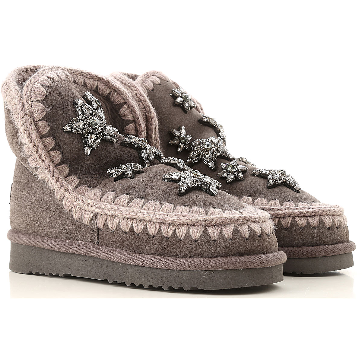 Image of Mou Boots for Women, Booties, Grey, suede, 2017, EUR 37 - UK 4 - USA 6.5 EUR 38 - UK 5 - USA 7.5