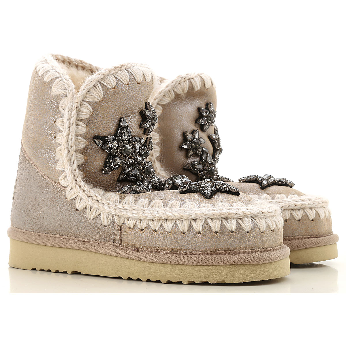Mou Boots for Women, Booties On Sale, Beige, Leather, 2019, EUR 36 - UK 3 - USA 5.5 EUR 40 - UK 7 - USA 9.5