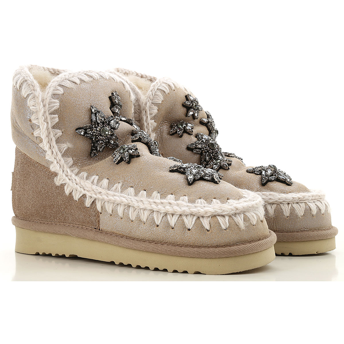 Image of Mou Boots for Women, Booties, Stone, Suede leather, 2017, EUR 37 - UK 4 - USA 6.5 EUR 38 - UK 5 - USA 7.5 EUR 39 - UK 6 - USA 8.5 EUR 40 - UK 7 - USA 9.5