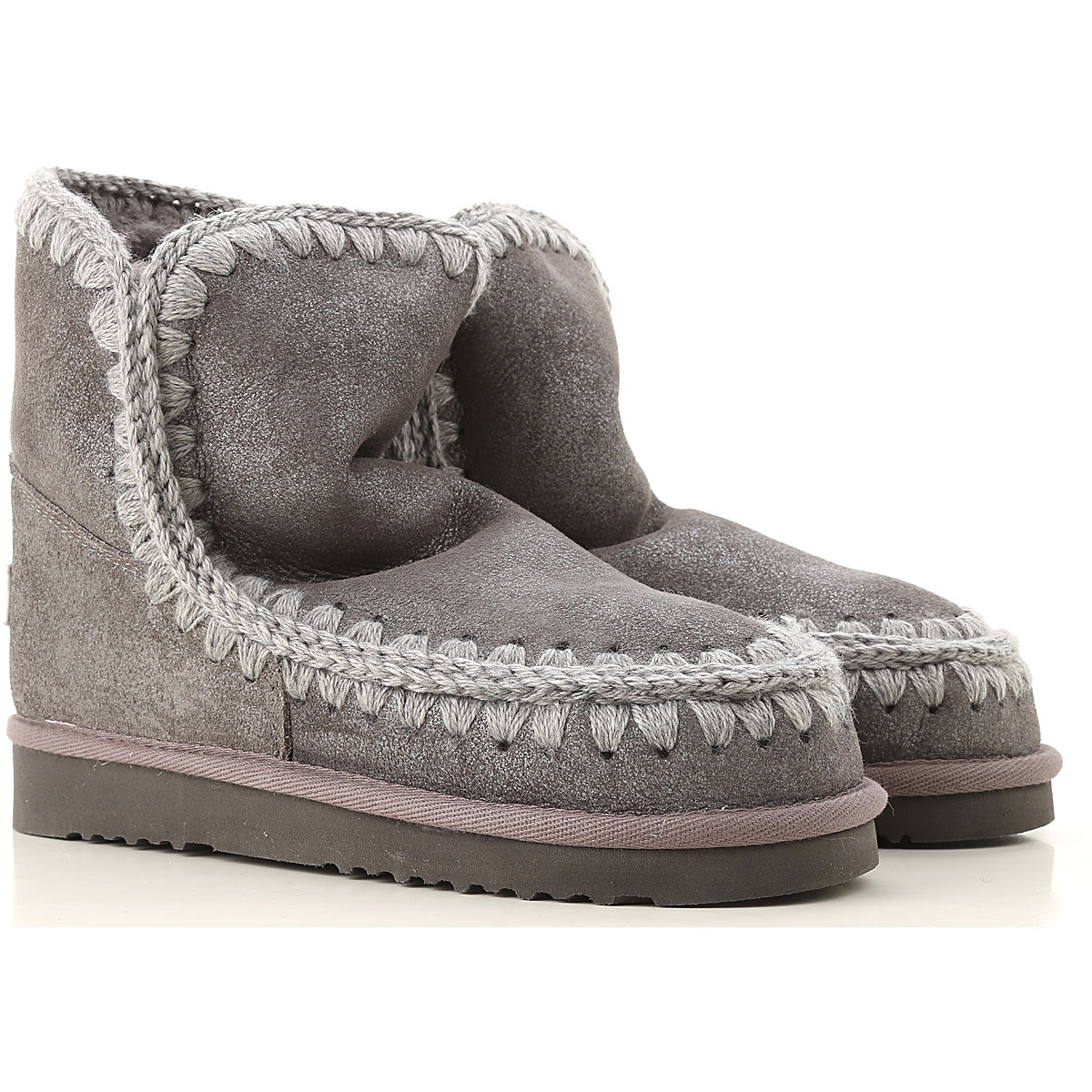 Mou Boots for Women, Booties On Sale, Grey, Leather, 2019, EUR 36 - UK 3 - USA 5.5 EUR 37 - UK 4 - USA 6.5 EUR 38 - UK 5 - USA 7.5
