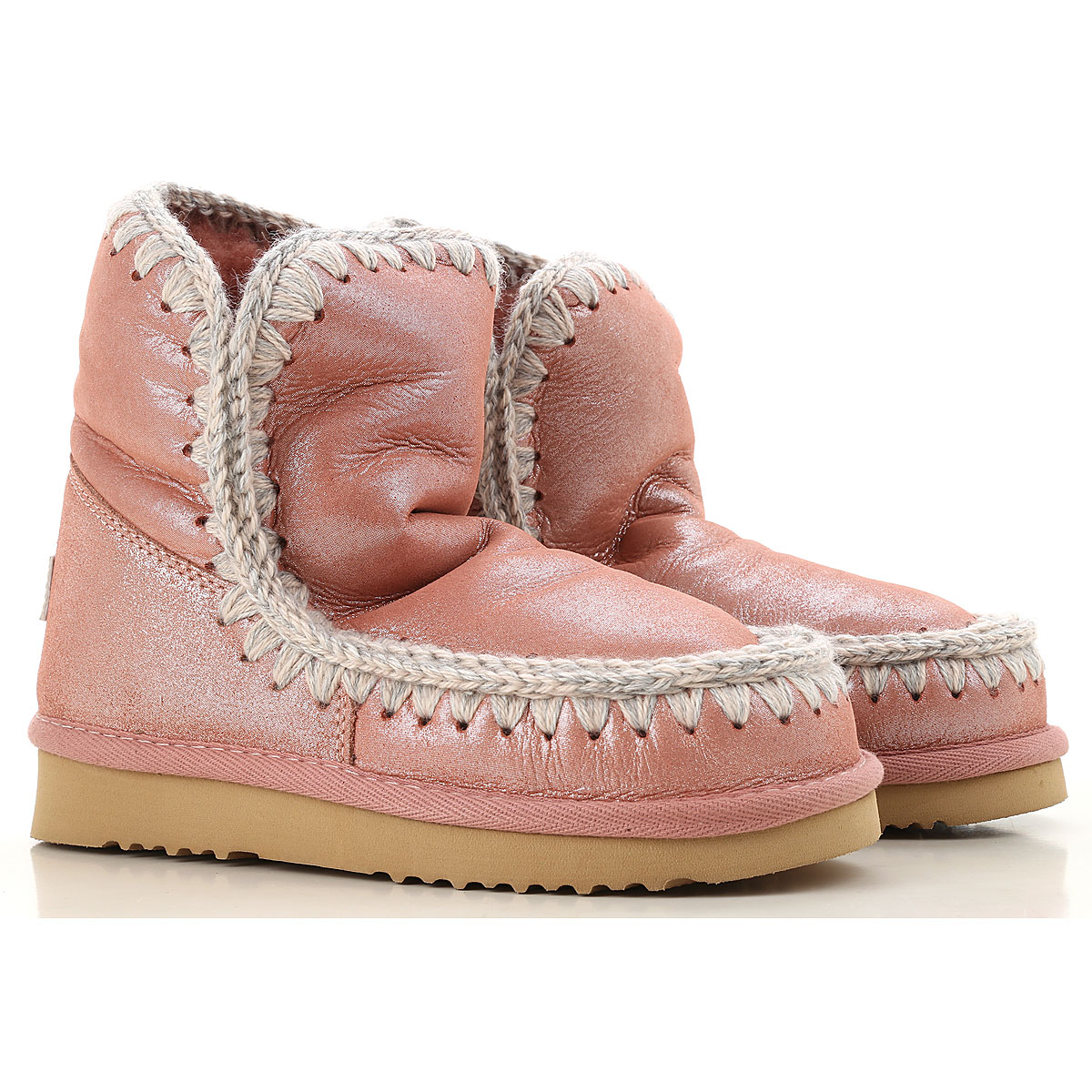 Mou Boots for Women, Booties On Sale, Pink, Leather, 2019, EUR 39 - UK 6 - USA 8.5 EUR 40 - UK 7 - USA 9.5