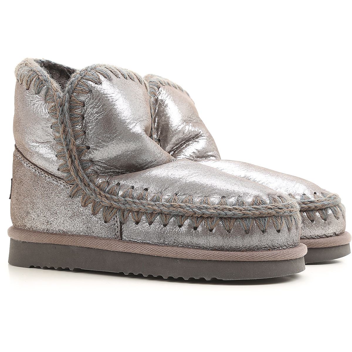 Mou Boots for Women, Booties On Sale, Pewter, Fabric, 2019, EUR 40 - UK 7 - USA 9.5 EUR 41 - UK 8 - USA 10.5