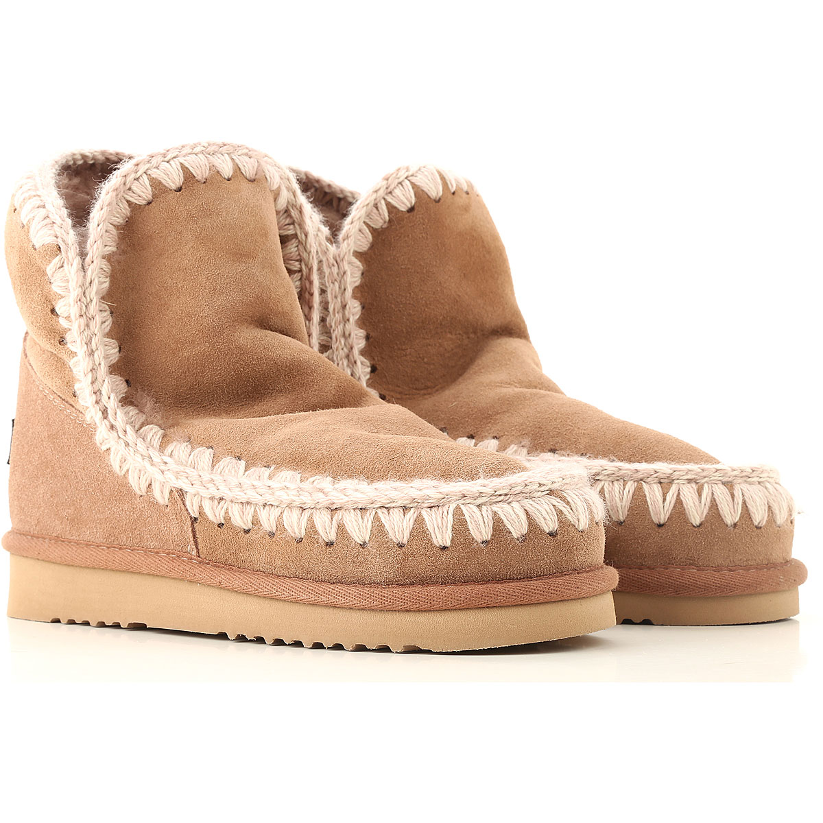 Mou Boots for Women, Booties On Sale in Outlet, Natural Mauve, sheepskin, 2019, EUR 38 - UK 5 - USA 7.5 EUR 40 - UK 7 - USA 9.5