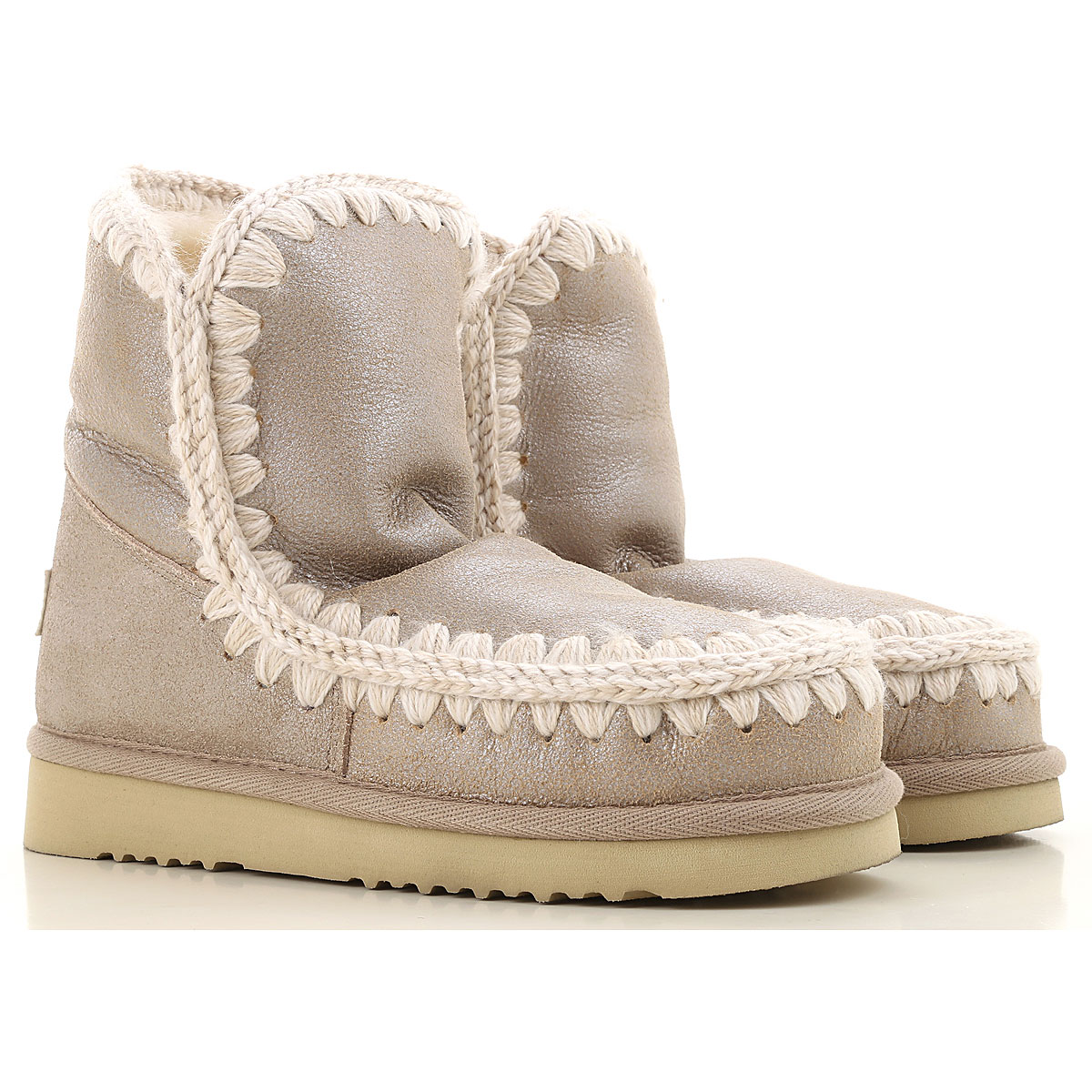 Mou Boots for Women, Booties On Sale, Sand, Leather, 2019, EUR 37 - UK 4 - USA 6.5 EUR 38 - UK 5 - USA 7.5 EUR 39 - UK 6 - USA 8.5 EUR 40 - UK 7 - USA