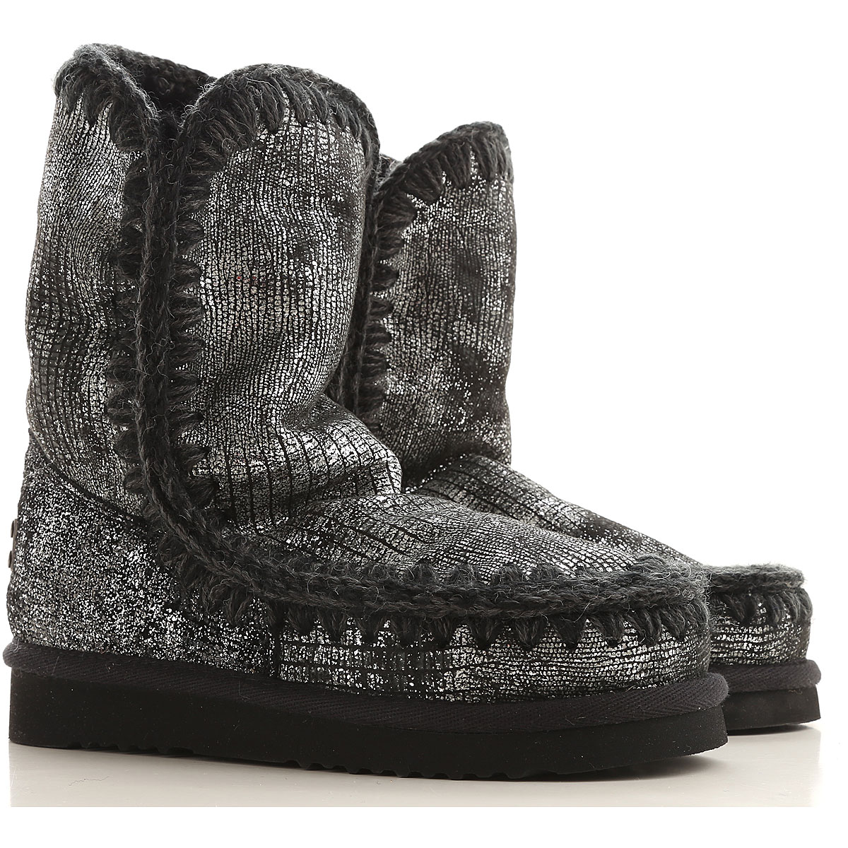 Mou Boots for Women, Booties On Sale in Outlet, Gunmetal, sheepskin, 2019, EUR 36 - UK 3 - USA 5.5 EUR 37 - UK 4 - USA 6.5