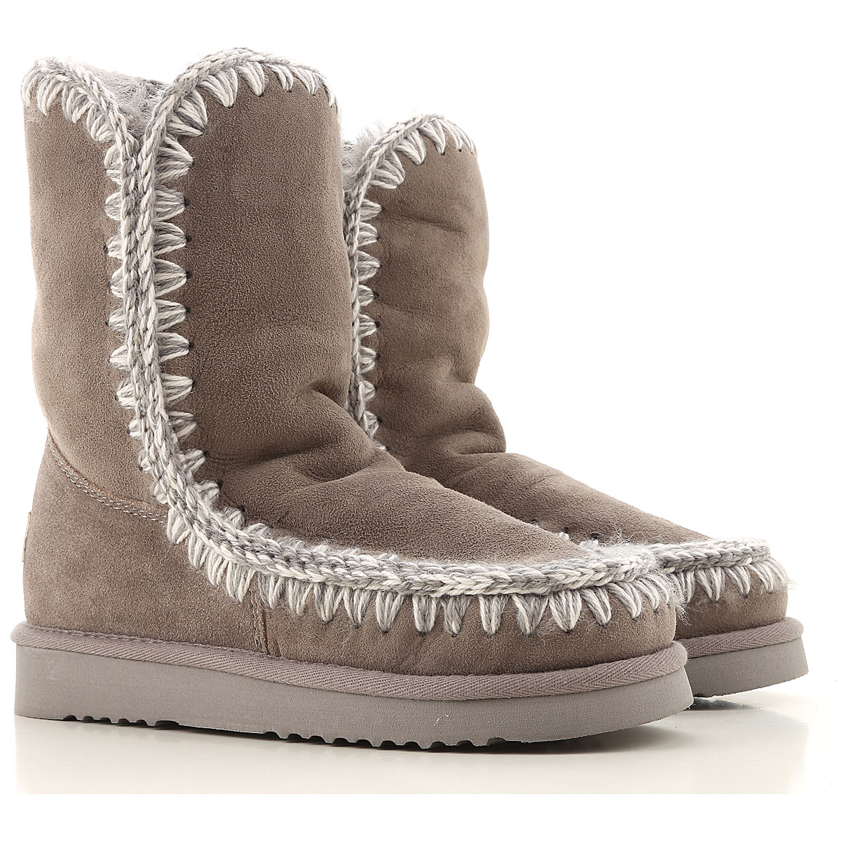Mou Boots for Women, Booties On Sale in Outlet, Grey, sheepskin, 2019, EUR 38 - UK 5 - USA 7 EUR 36 - UK 3 - USA 5.5 EUR 37 - UK 4 - USA 6.5