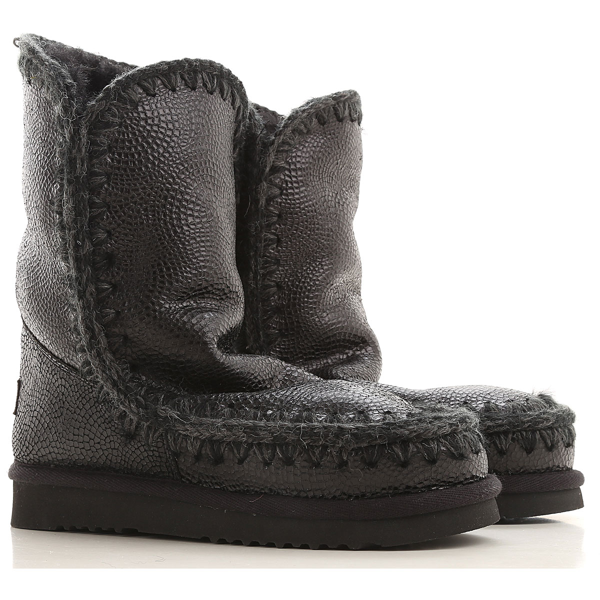 Mou Boots for Women, Booties On Sale in Outlet, Black, sheepskin, 2019, EUR 37 - UK 4 - USA 6.5 EUR 38 - UK 5 - USA 7.5 EUR 39 - UK 6 - USA 8.5 EUR 40