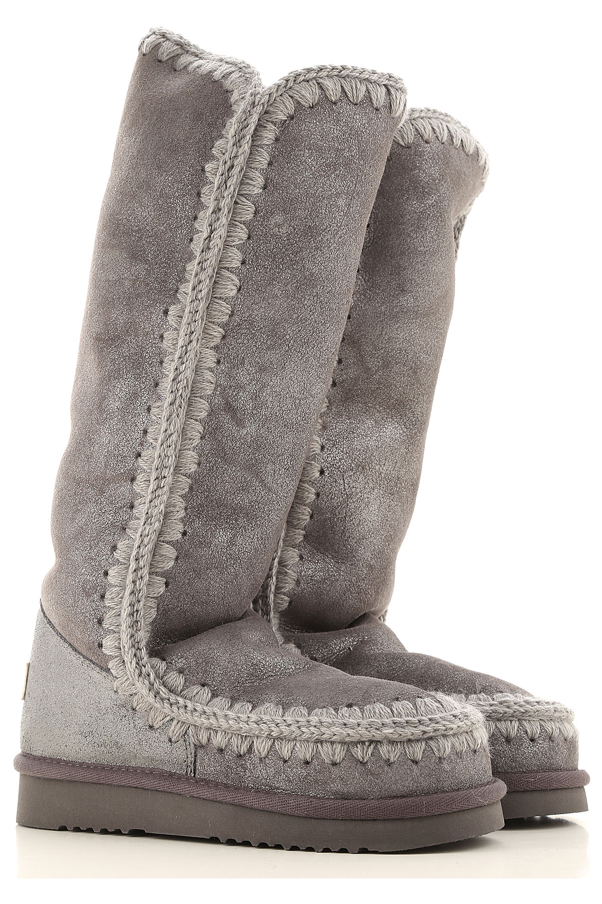 Mou Boots for Women, Booties On Sale in Outlet, Grey, Leather, 2019, EUR 36 - UK 3 - USA 5.5 EUR 37 - UK 4 - USA 6.5 EUR 39 - UK 6 - USA 8.5 EUR 40 -
