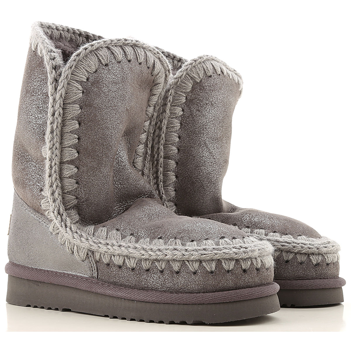 Mou Boots for Women, Booties On Sale, Medium Grey, Leather, 2019, EUR 37 - UK 4 - USA 6.5 EUR 38 - UK 5 - USA 7.5
