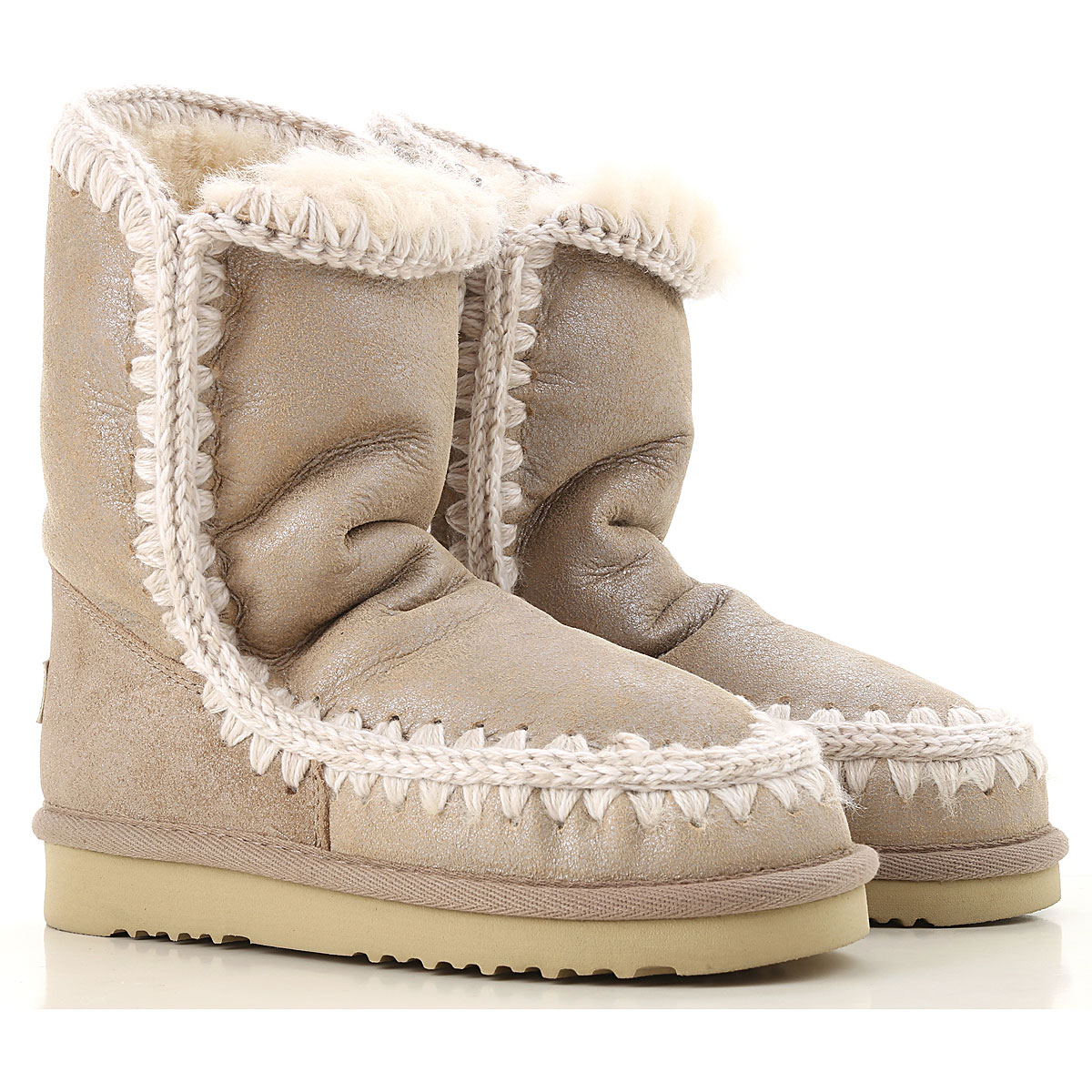 Image of Mou Boots for Women, Booties, Sand, Leather, 2017, EUR 36 - UK 3 - USA 5.5 EUR 37 - UK 4 - USA 6.5 EUR 38 - UK 5 - USA 7.5 EUR 39 - UK 6 - USA 8.5 EUR 40 - UK 7 - USA 9.5