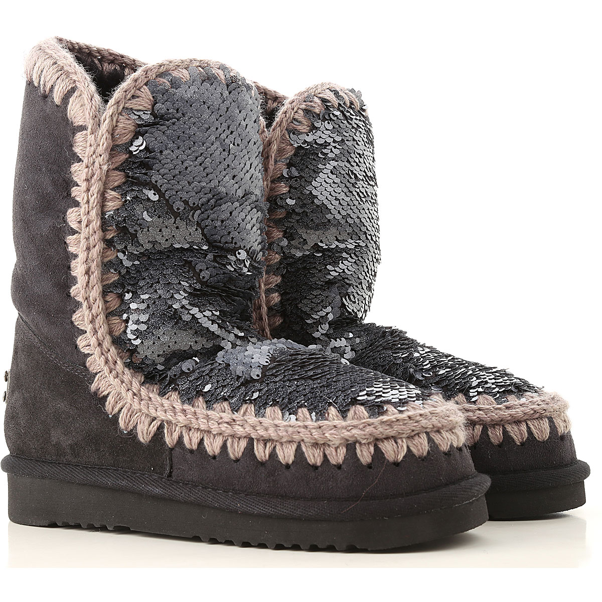 Image of Mou Boots for Women, Booties, Limited Edition, Anthracite Grey, Leather, 2017, EUR 36 - UK 3 - USA 5.5 EUR 37 - UK 4 - USA 6.5 EUR 38 - UK 5 - USA 7.5 EUR 39 - UK 6 - USA 8.5 EUR 40 - UK 7 - USA 9.5