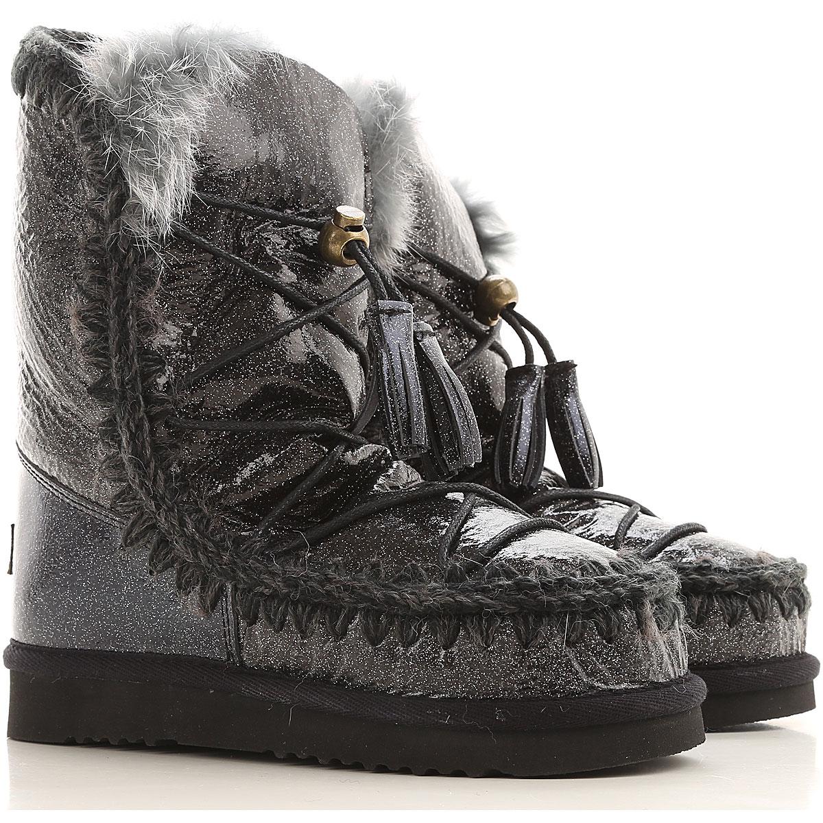 Mou Boots for Women, Booties On Sale in Outlet, Gunmetal, sheepskin, 2019, EUR 37 - UK 4 - USA 6.5 EUR 38 - UK 5 - USA 7.5 EUR 40 - UK 7 - USA 9.5