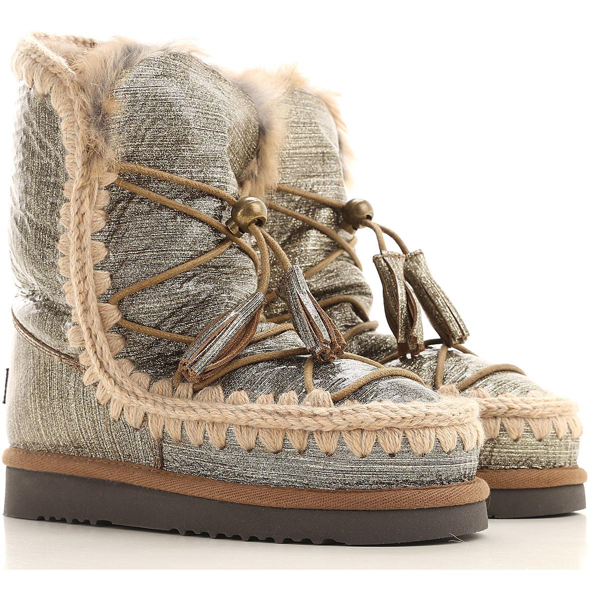 Mou Boots for Women, Booties On Sale in Outlet, Dark Gold, sheepskin, 2019, EUR 38 - UK 5 - USA 7 EUR 37 - UK 4 - USA 6.5 EUR 39 - UK 6 - USA 8.5 EUR