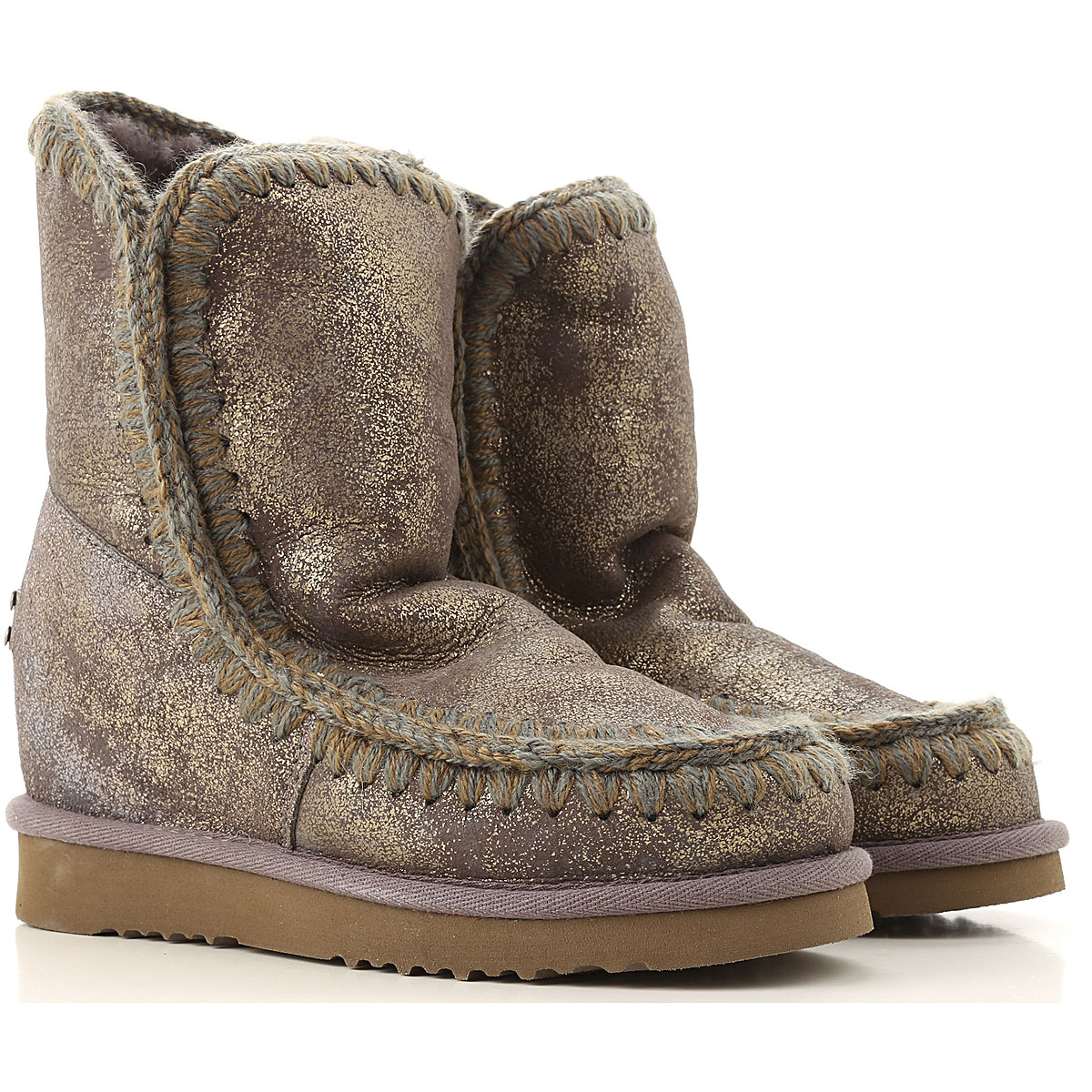 Mou Boots for Women, Booties On Sale in Outlet, Charcoal Grey, Leather, 2019, EUR 39 - UK 6 - USA 8.5 EUR 40 - UK 7 - USA 9.5