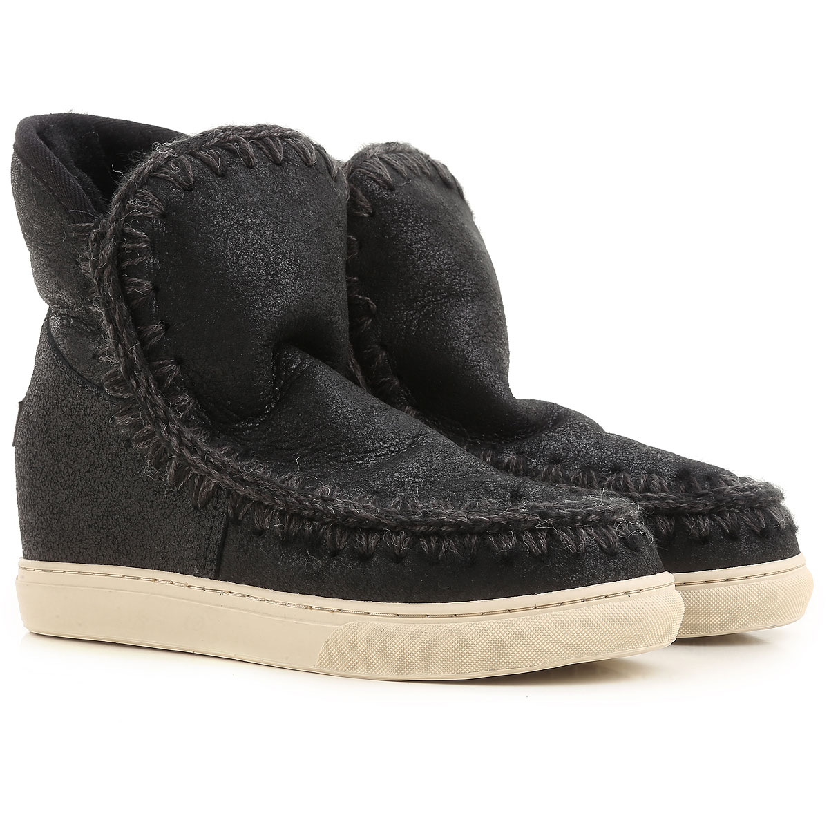 Image of Mou Boots for Women, Booties, Black, Leather, 2017, EUR 36 - UK 3 - USA 5.5 EUR 37 - UK 4 - USA 6.5 EUR 38 - UK 5 - USA 7.5
