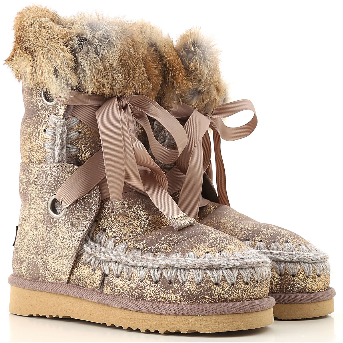 Image of Mou Boots for Women, Booties, Bronze Gold, suede, 2017, EUR 36 - UK 3 - USA 5.5 EUR 37 - UK 4 - USA 6.5 EUR 38 - UK 5 - USA 7.5 EUR 39 - UK 6 - USA 8.5 EUR 40 - UK 7 - USA 9.5